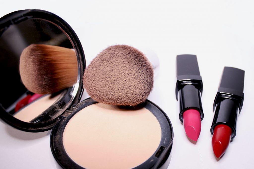 Brushes and lipsticks